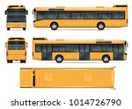 bus vector mock up. isolated... | Shutterstock .eps vector #1014726790