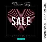 valentine's day sale banner.... | Shutterstock .eps vector #1014726988