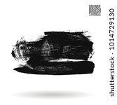 grey  brush stroke and texture. ... | Shutterstock .eps vector #1014729130