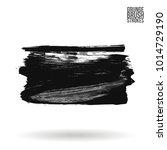 grey  brush stroke and texture. ... | Shutterstock .eps vector #1014729190