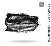 grey  brush stroke and texture. ...   Shutterstock .eps vector #1014729196