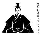 emperor of china icon black... | Shutterstock .eps vector #1014739084