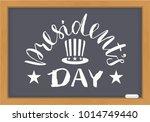 president's day white text on... | Shutterstock .eps vector #1014749440