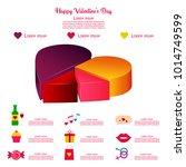 happy valentine's day pie... | Shutterstock .eps vector #1014749599