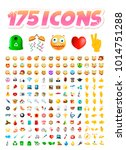 set of 175 realistic cute icons ...