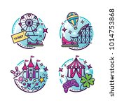 amusement park vector...   Shutterstock .eps vector #1014753868