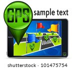 gps navigation map with flags ... | Shutterstock .eps vector #101475754