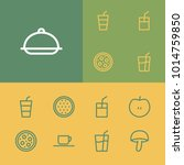 food icons set with meal ...