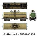 3d renders of cargo railroad... | Shutterstock . vector #1014760504