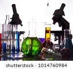 chemistry equipment reseach | Shutterstock . vector #1014760984