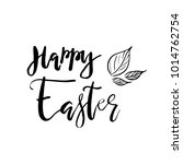 happy easter card with... | Shutterstock .eps vector #1014762754