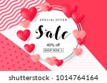 valentines day sale  discont... | Shutterstock .eps vector #1014764164