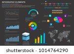set infographic design colors... | Shutterstock .eps vector #1014764290