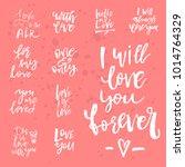 set of valentines day romantic... | Shutterstock .eps vector #1014764329