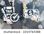 Small photo of Businessmans using virtual screen offers icon check list pen tax clock and presses button money coins cash. Tax Payment Business Financial concept. Value Added Tax. Taxes Pay Management Plan Schedule.