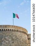 italian flag in otranto city    Shutterstock . vector #1014766600
