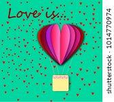 paper heart for valentantine's... | Shutterstock . vector #1014770974