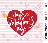 happy valentine's day hand... | Shutterstock .eps vector #1014773200