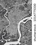 philadelphia city plan ... | Shutterstock .eps vector #1014775330
