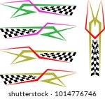 vehicle graphics  stripe  ... | Shutterstock .eps vector #1014776746