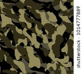 camouflage seamless pattern.... | Shutterstock .eps vector #1014777889