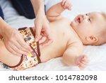 woman's hands changing reusable ... | Shutterstock . vector #1014782098