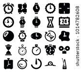 timer icons. set of 25 editable ... | Shutterstock .eps vector #1014782608