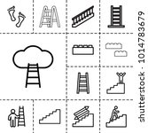step icons. set of 13 editable... | Shutterstock .eps vector #1014783679