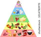 food pyramid chart | Shutterstock .eps vector #1014783970