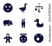 Cute Icons. Set Of 9 Editable...