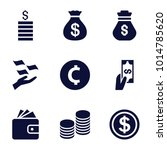 rich icons. set of 9 editable... | Shutterstock .eps vector #1014785620