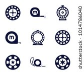 roulette icons. set of 9... | Shutterstock .eps vector #1014786040