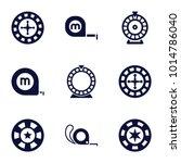 roulette icons. set of 9... | Shutterstock .eps vector #1014786040