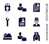 profession icons. set of 9... | Shutterstock .eps vector #1014786118