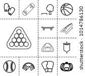 recreation icons. set of 13...   Shutterstock .eps vector #1014786130