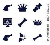 bone icons. set of 9 editable... | Shutterstock .eps vector #1014786139