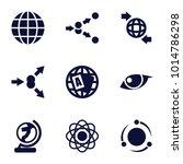 orbit icons. set of 9 editable... | Shutterstock .eps vector #1014786298