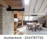 attic apartment interior design | Shutterstock . vector #1014787720