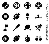 origami style icon set   ball... | Shutterstock .eps vector #1014787978