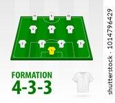 football players lineups ... | Shutterstock .eps vector #1014796429