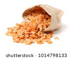 Dried Shrimp On White...