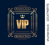 gold rich decorated square vip... | Shutterstock .eps vector #1014798970