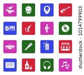 rock music icons. white flat... | Shutterstock .eps vector #1014799903