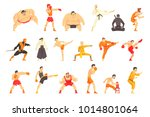 martial arts fighters... | Shutterstock .eps vector #1014801064