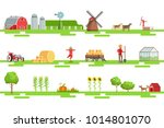 farm related elements in... | Shutterstock .eps vector #1014801070