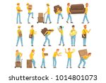 delivery and moving company... | Shutterstock .eps vector #1014801073
