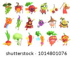 silly fantastic fruit and...   Shutterstock .eps vector #1014801076