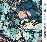 seamless exotic pattern with... | Shutterstock .eps vector #1014802810