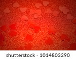 Red Background With Hearts...