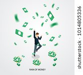 businessman happy with money... | Shutterstock .eps vector #1014805336